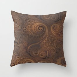Faux Leather Look Spiral Pattern Throw Pillow