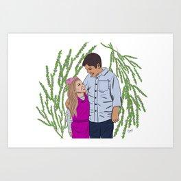 Bridget and Oliver Art Print
