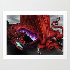 Red Wryven Art Print