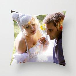 Sailor Moon - Princess Serenity and Prince Endymion  Throw Pillow