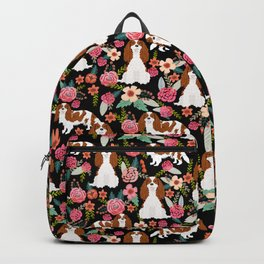 Blenheim Cavalier King Charles Spaniel dog breed florals pattern Backpack