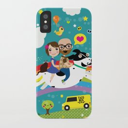 Rick and Ellen Fly to the Taco Bus iPhone Case