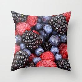 forest fruit Throw Pillow