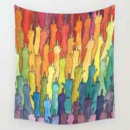 fuck-off in rainbow power Wall Tapestry