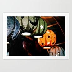 Paper lamps Art Print