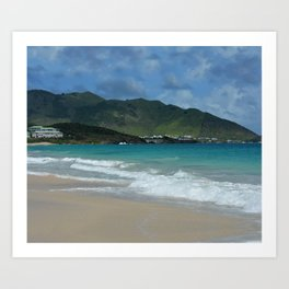 Clouds, Mountains and Ocean Art Print