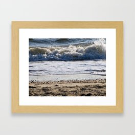 Cape May Beach New Jersey By Annie Zeno Framed Art Print