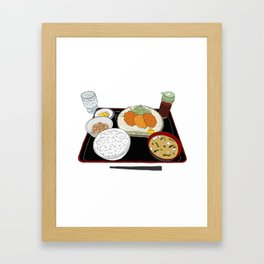 Japanese Tonkatsu Bento Framed Art Print