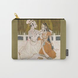 Krishna and Radha (painting c. 1750) Carry-All Pouch