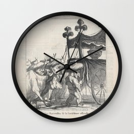 The funeral ceremony for the official candidacy, from 'News of the day,' published in Le Charivari, Wall Clock
