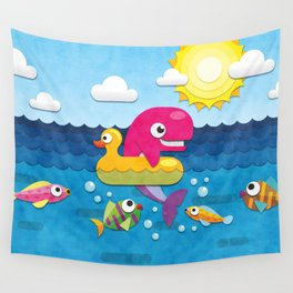 Rookie Whale Wall Tapestry