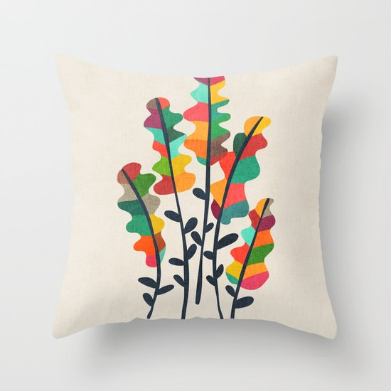 Flower from the meadow Throw Pillow