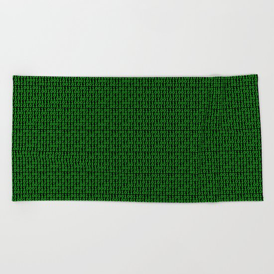 Binary Green Beach Towel