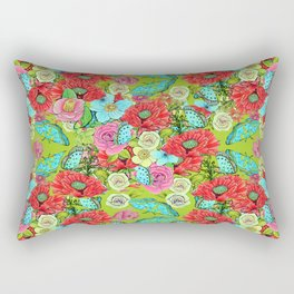 Chartreuse Floral for 2017 Rectangular Pillow