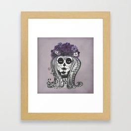FLOWER CANDY SKULL Framed Art Print
