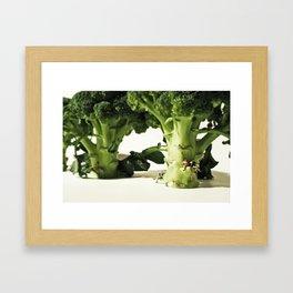 Love in Broccoland. Framed Art Print
