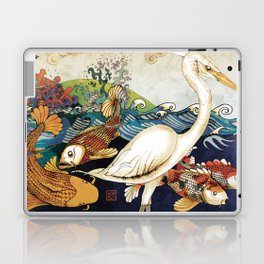 Koi & Egret Laptop & iPad Skin