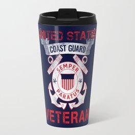 Coast Guard Veteran Travel Mug