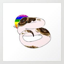 Gay Pride (Piebald Ball Python) Art Print