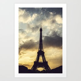 Paris at Sunset.  Art Print