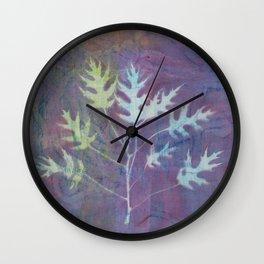 Cyanotype No. 7 Wall Clock