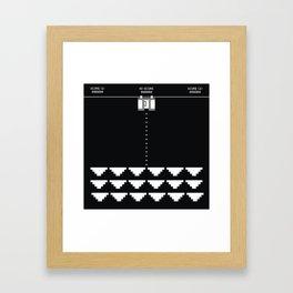 Briefs Invaders Framed Art Print