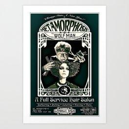 Metamorphosis by The Wolf Man: A Full Service Hair Salon (Vintage) Art Print