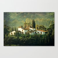 spanish Canvas Prints featuring Spanish Villa by Clare Bevan Photography