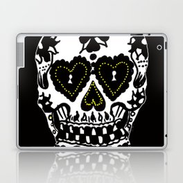 Sugar Skull - Black and White Laptop & iPad Skin