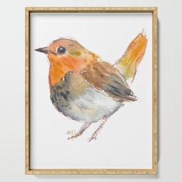 Little orange bird Serving Tray