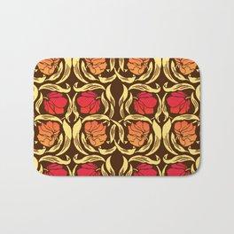 William Morris Pimpernel, Rust Orange and Brown Bath Mat