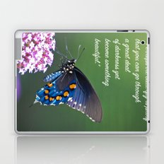 Beautiful Butterfly Quote Laptop & iPad Skin
