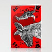 kangaroo Stationery Cards featuring Kangaroo by GrOoVy Photo Art
