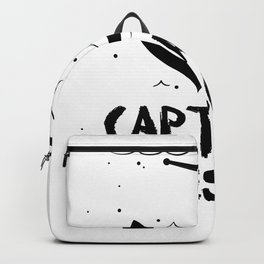 Captain Awesome Boat Gifts Backpack