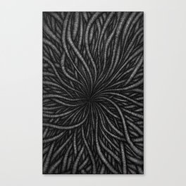 Wormy Digging Canvas Print