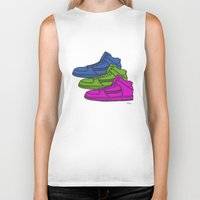 sneakers Biker Tanks featuring Colorful sneakers by YTRKMR