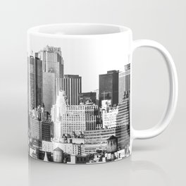 Midtown Manhattan 1978 black and white Coffee Mug