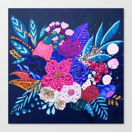 Jewel Bouquet Canvas Print