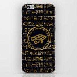Gold Egyptian Eye of Horus - Wadjet iPhone Skin