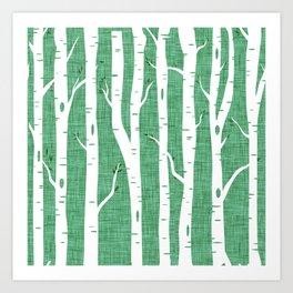 Canadian Wildlife Woods Emerald Art Print