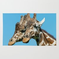 giraffes Area & Throw Rugs featuring Giraffes  by LaMont Copeland Photography