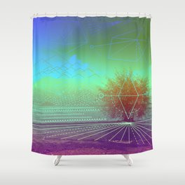 HIDDEN LAKE Shower Curtain