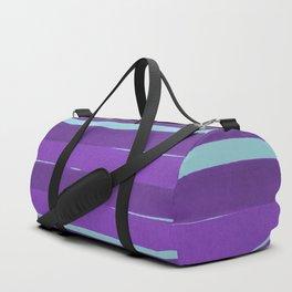 Purple stripes Duffle Bag