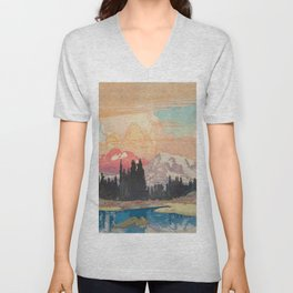 Storms over Keiisino Unisex V-Neck