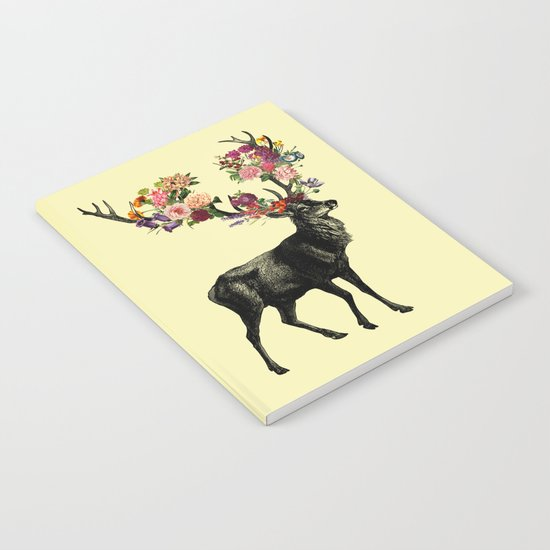 Spring Itself Deer Floral (Cream) Notebook