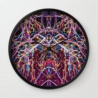 baphomet Wall Clocks featuring Baphomet 1 by Kevin Kolstad