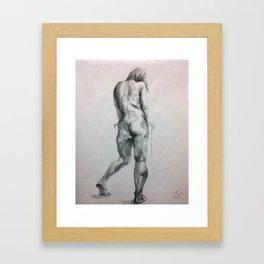 Life figure drawing Framed Art Print