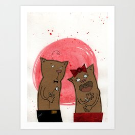 funny valentine Art Print