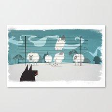 A sheep odyssey Canvas Print