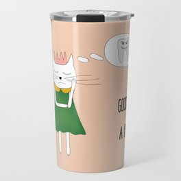 Good pussycat with a bad tooth Travel Mug